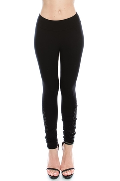 Vocal Apparel Knit Leggings With Stones - Product List Image