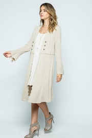 Vocal Apparel Knit Long Jacket - Front full body
