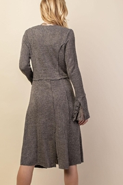 Vocal Apparel Knit Long Jacket With Buttons - Side cropped