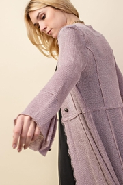 Vocal Apparel Knit Long Jacket With Buttons - Other