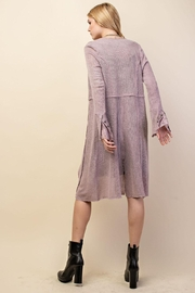 Vocal Apparel Knit Long Jacket With Buttons - Front full body