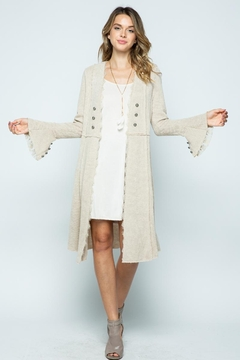 Shoptiques Product: Knit Long Jacket With Buttons