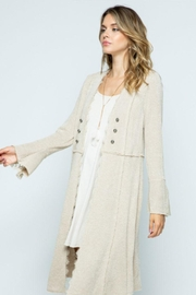 Vocal Apparel Knit Long Jacket With Buttons - Front cropped