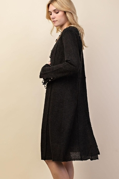 Vocal Apparel Knit Long Jacket With Buttons - Alternate List Image