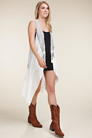 Vocal Apparel Lace Back Vest Wings & Stones - Other