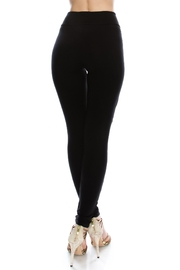 Vocal Apparel Lace Contrasted Leggings With Stones - Side cropped