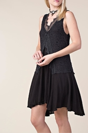 Vocal Apparel Lace Mix-Media Dress - Front full body