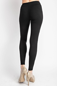Vocal Apparel Lace Paneled Leggings With Stones - Alternate List Image