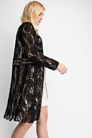 Vocal Apparel Lace & Suede Jacket - Side cropped