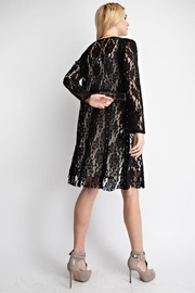 Vocal Apparel Lace With Suede Mix Jacket - Side cropped