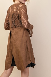 Vocal Apparel Lacey Suede Duster - Back cropped