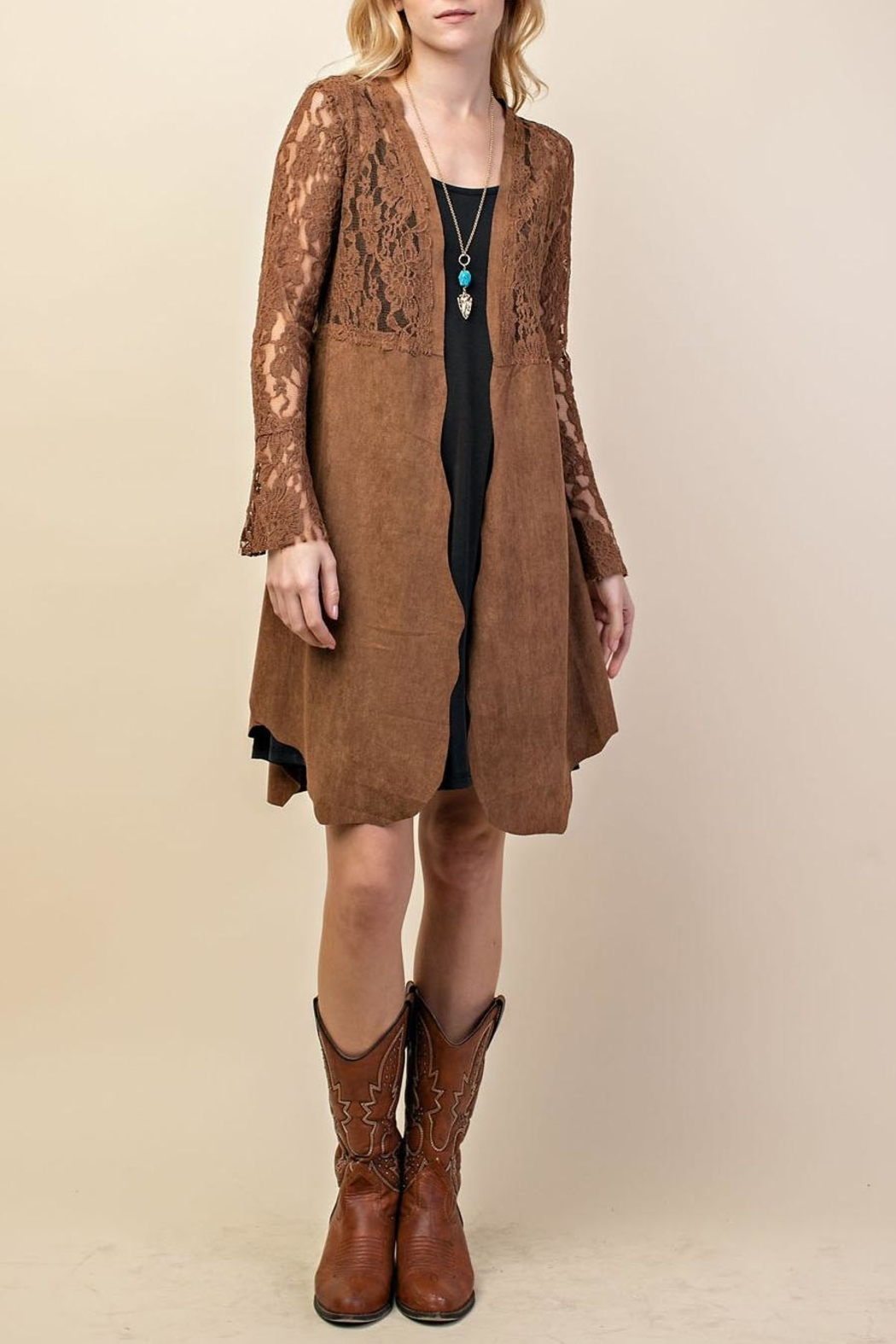 Vocal Apparel Lacey Suede Duster - Main Image