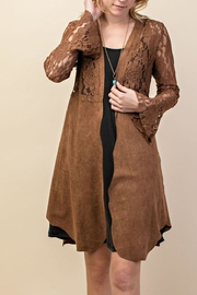 Vocal Apparel Lacey Suede Duster - Front full body