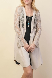 Vocal Apparel Lacey Suede Duster - Front cropped
