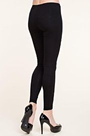 Vocal Apparel Laser Cut Legging With Lace Detail - Side cropped