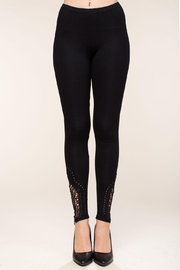 Vocal Apparel Leggings With Crochet And Stone Details - Front cropped