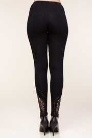 Vocal Apparel Leggings With Crochet And Stone Details - Side cropped