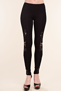 Vocal Apparel Leggings With Crochet Detail - Product List Image