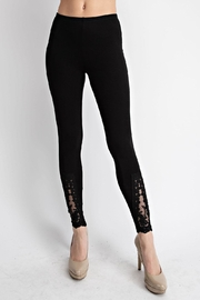 Vocal Apparel Leggings With Lace Crochet Detail - Product Mini Image