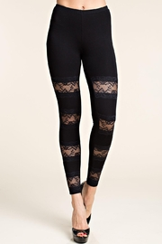 Vocal Apparel Leggings With Lace Panels - Product Mini Image