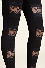 Vocal Apparel Leggings With Lace Panels - Other