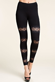 Vocal Apparel Leggings With Lace Panels - Front cropped