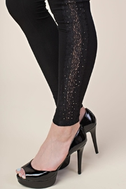 Vocal Apparel Leggings With Side Lace And Stones - Other