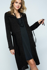 Vocal Apparel Long Jacket With Belt - Front full body