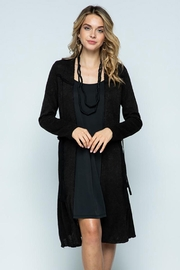 Vocal Apparel Long Jacket With Belt - Product Mini Image