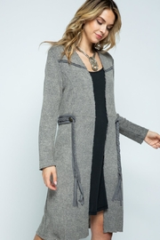 Vocal Apparel Long Jacket With Belt - Side cropped