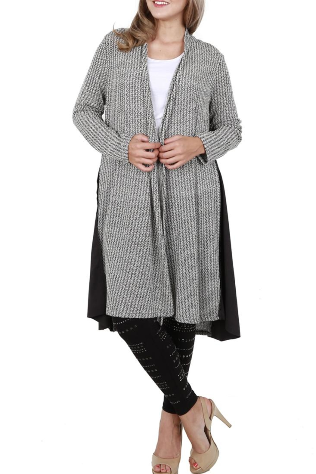 Vocal Apparel Long Sleeve Cardigan - Front Full Image