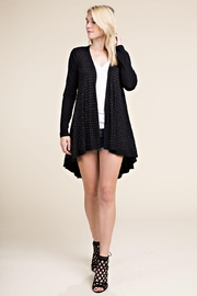 Vocal Apparel Long Sleeve Cardigan With Stones - Product Mini Image