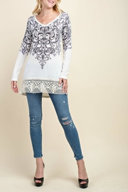 Vocal Apparel Motif Accent Sweater - Side cropped