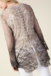 Vocal Apparel Ombre Lace Cardigan - Back cropped