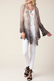 Vocal Apparel Ombre Lace Cardigan - Front full body