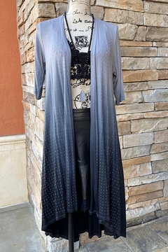 Vocal Apparel Open Front Cardigan All Over Stones - Alternate List Image