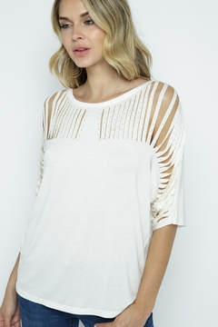 Vocal Apparel Short Sleeve Top With Stones - Alternate List Image
