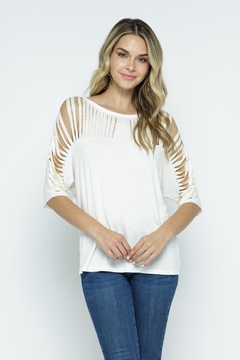 Vocal Apparel Short Sleeve Top With Stones - Product List Image