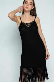 Vocal Apparel Sleeveless Dress With Fringes - Product Mini Image