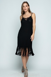Vocal Apparel Sleeveless Dress With Fringes - Other