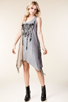 Vocal Apparel Sleeveless Tunic Skull Print And Stones - Product List Image