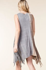 Vocal Apparel Sleeveless Tunic Skull Print And Stones - Front full body