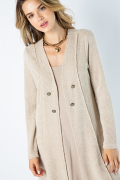 Vocal Apparel Solid Jacket Lace Detail - Product List Image