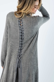 Vocal Apparel Solid Jacket With Laced Up Details - Side cropped