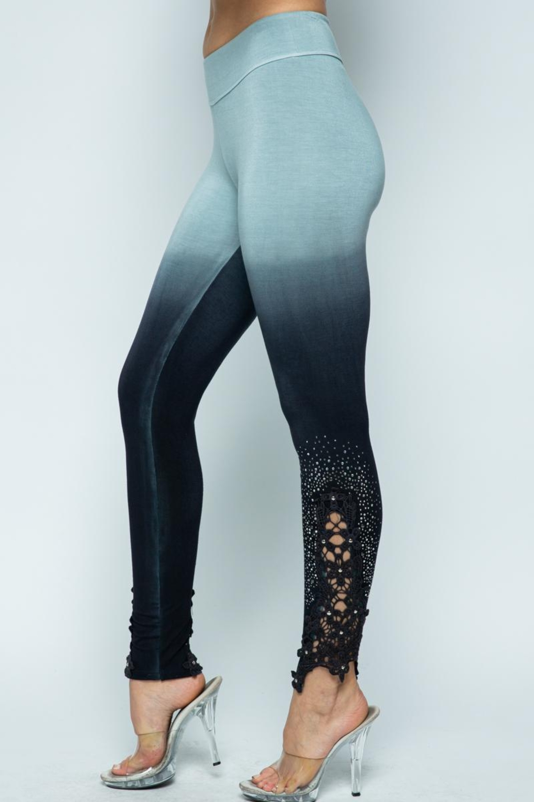 Vocal Apparel Special Dye Leggings With Stones - Main Image