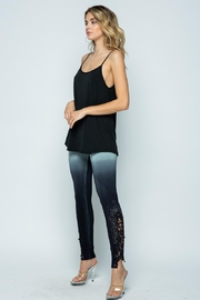 Vocal Apparel Special Dye Leggings With Stones - Side cropped