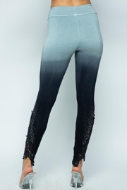 Vocal Apparel Special Dye Leggings With Stones - Front full body