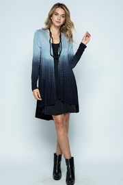 Vocal Apparel Special Dye Long Sleeve Cardigan With Stones - Back cropped
