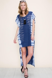 Vocal Apparel Special Dyed Hi-Low Dress With Stones - Front cropped