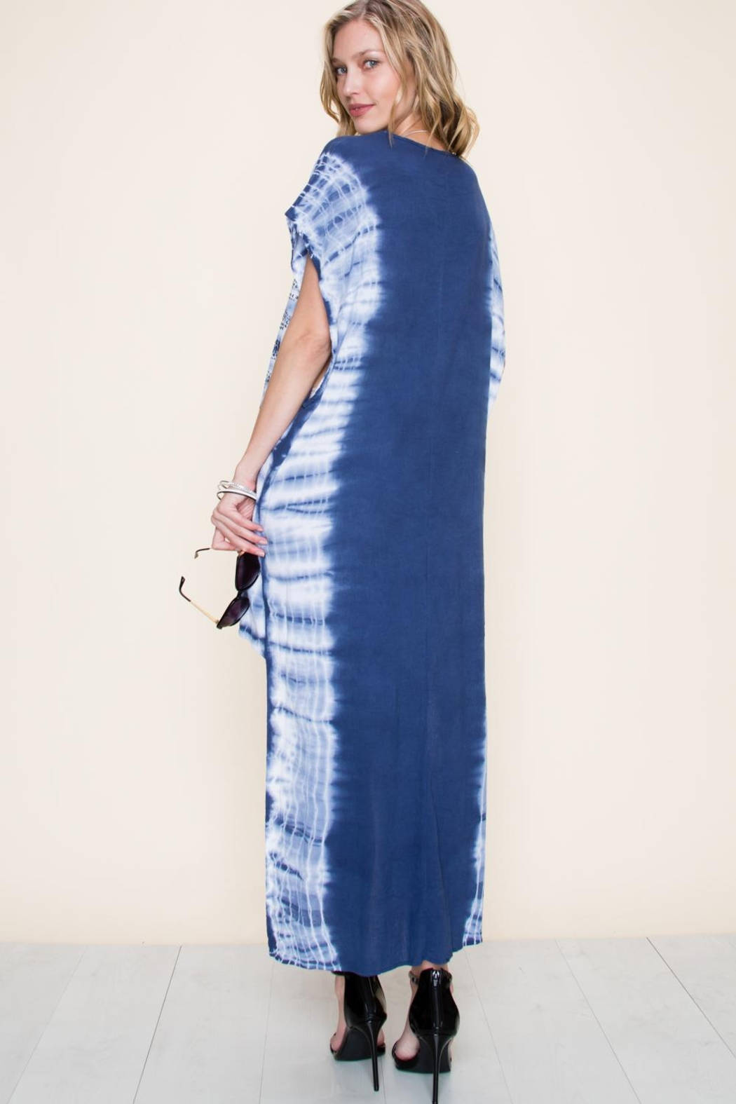 Vocal Apparel Special Dyed Hi-Low Dress With Stones - Side Cropped Image